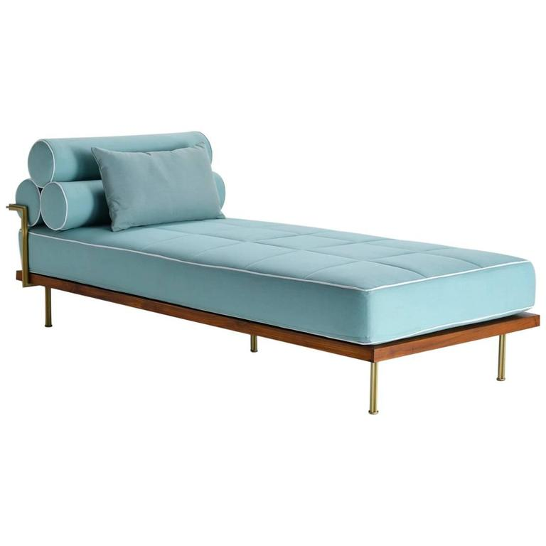 Bespoke Outdoor Daybed with Solid Brass Frame AVAILABLE IN STOCK by P.Tendercool