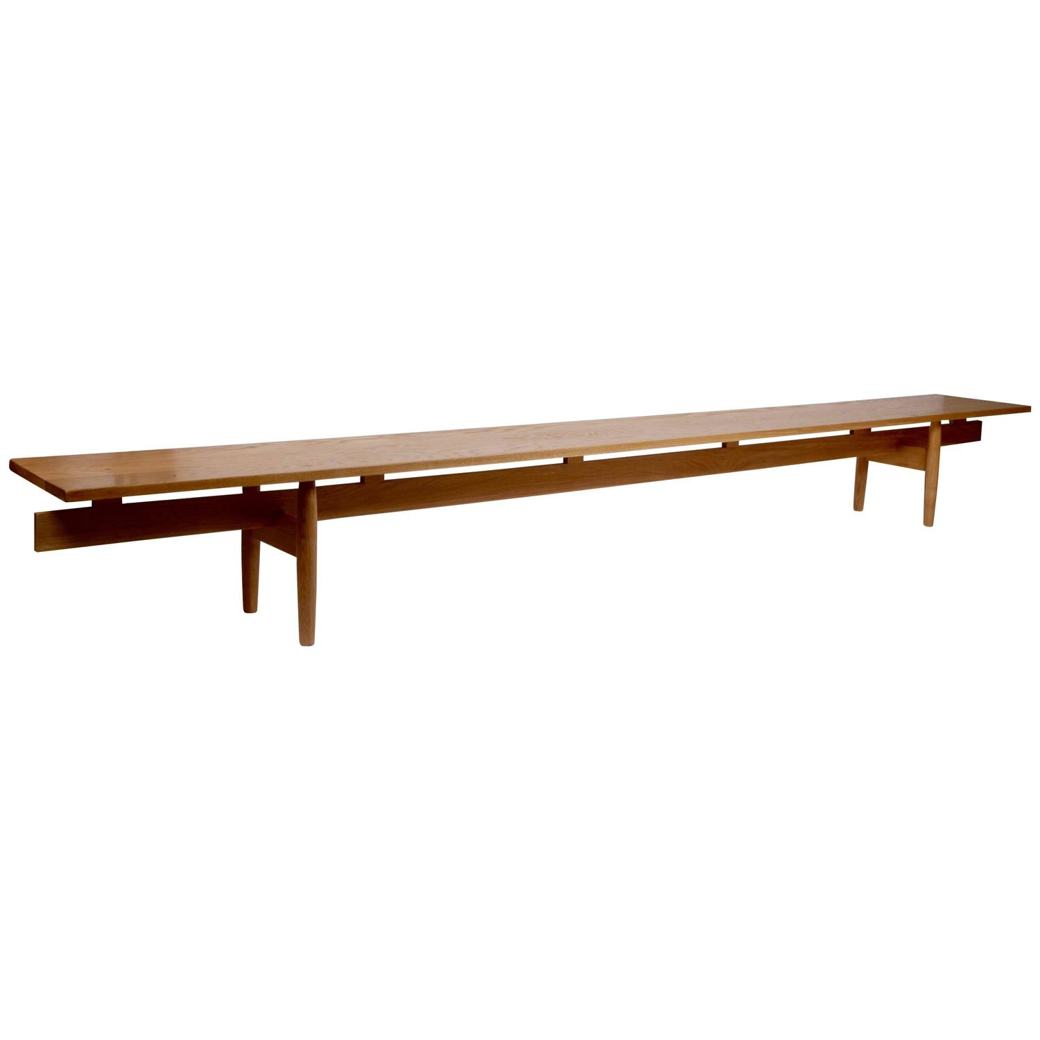 Jens risom floating bench for sale at 1stdibs - Bench Quot Long Banc Quot Ib Kofod Larsen Attributed