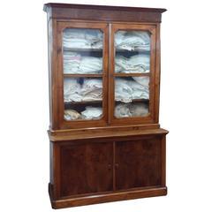 19th French Walnut Bookcase