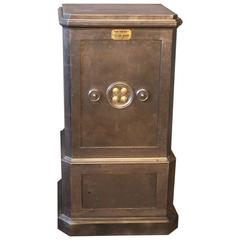 1900s Black Steel and Iron Safe with All Keys and Working Combination by Dubois