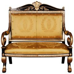 Napoleonic Swans Sofa in Empire Style