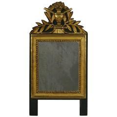 Small 18th Century French Louis XVI Style Giltwood Mirror