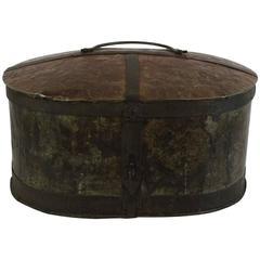 Rare 18th Century Swedish Riveted Iron Travel Box