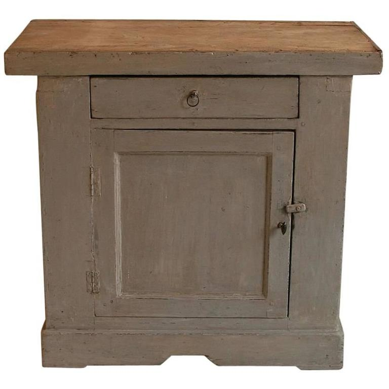 Small French 19th Century Painted Cupboard