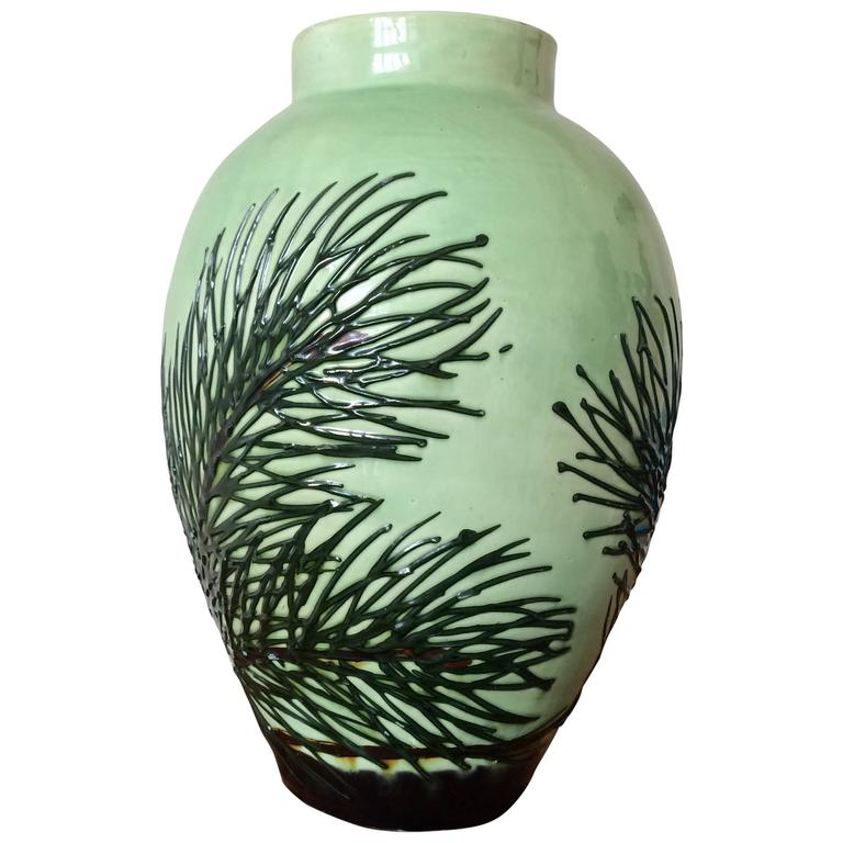 Max Laeuger, Vase with Pine Branch Decor, circa 1920