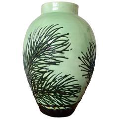 Max Laeuger, Vase with Pine Branch Decor, circa 1920