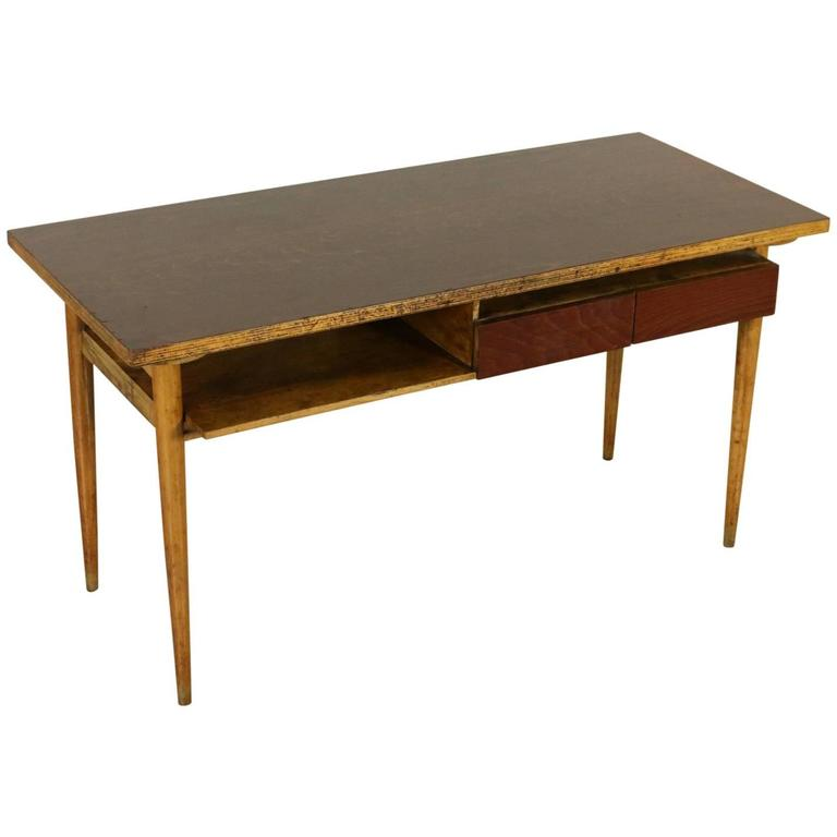 Desk Maple Beech Veneer Vintage Manufactured in Italy ...