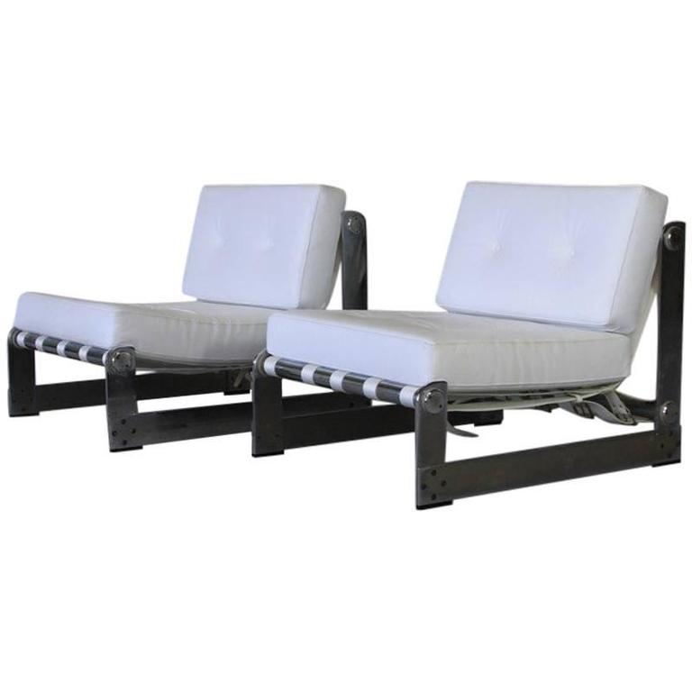 Pair of Lounge Chairs by Gilles Bouchez for Airborne, 1970s