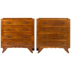 Pair of French 1940s Chests of Drawers
