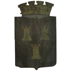 French 19th Century Tin Plate Coat of Arms