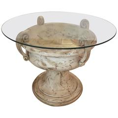 Large Elegant Carved Wood Italian Urn Table Base