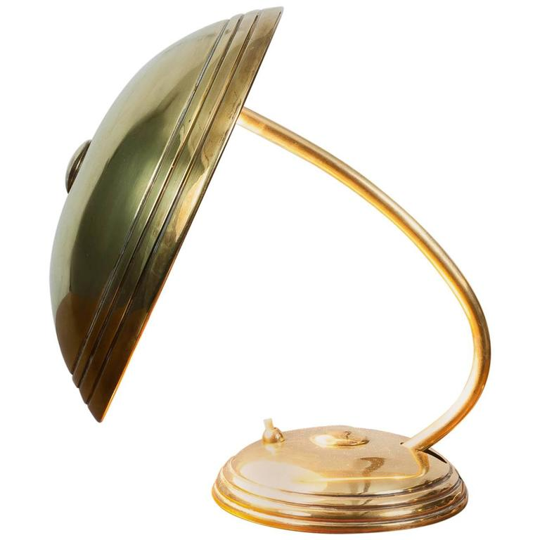 1930s german brass art deco secretary helo leuchten desk adjustable lamp for sale at 1stdibs. Black Bedroom Furniture Sets. Home Design Ideas