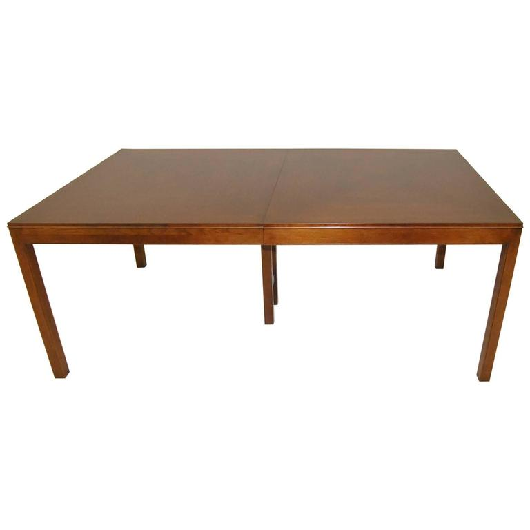 Dark Walnut Dining Room Table by Bert England for Johnson Furniture