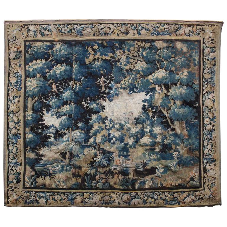 French Aubusson Verdure 18th Century Tapestry