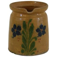 19th Century French Glazed Earthenware Alsace Jug