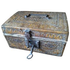 Rare 17th Century French Medieval Message Mail Letters Box