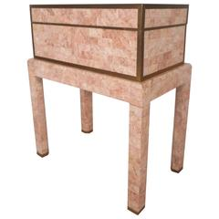 Mid-Century Modern Tessellated Stone Box on a Stand by Maitland-Smith