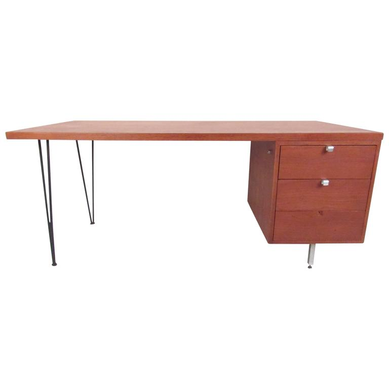 George Nelson for Herman Miller Executive Desk with Hairpin Legs