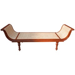 British Colonial Caned Teak Daybed