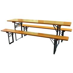 "Picnic Table and Benches from Bavarian Brewery ""Wild"", Ships Free"
