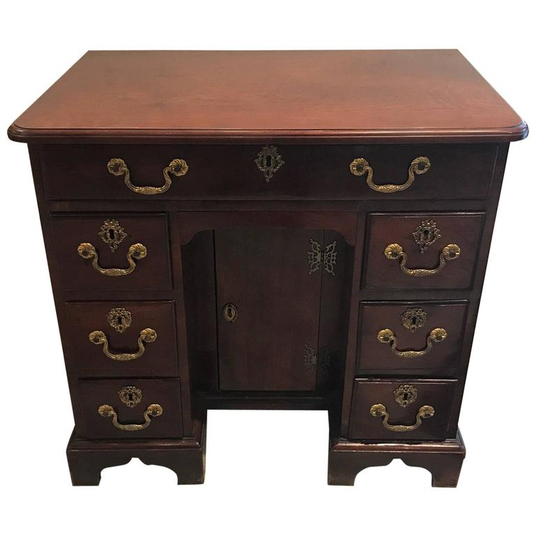 George III Kneehole Desk Dressing Table