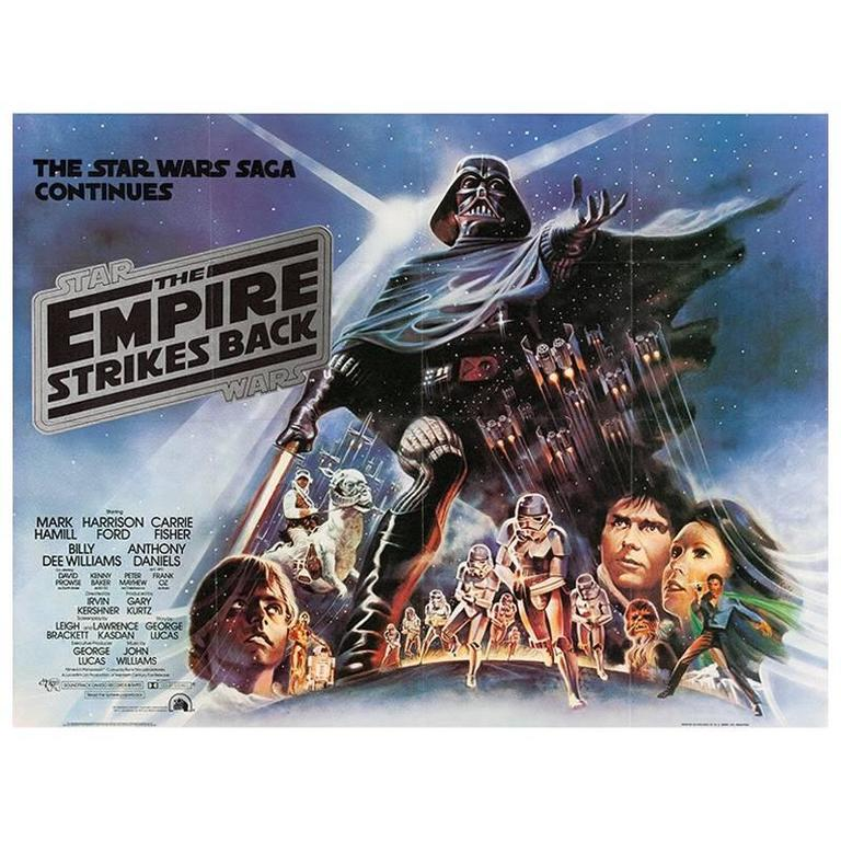 """The Empire Strikes Back"" Film Poster, 1980"