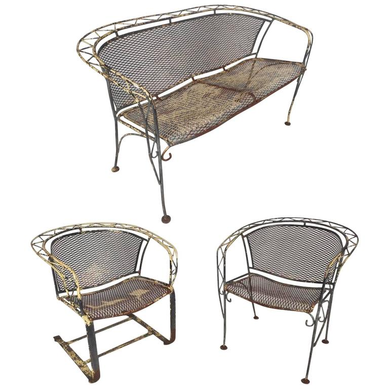 Vintage Salterini Style Wrought Iron Patio Set