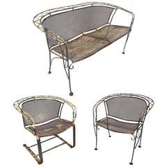 Vintage Salterini Style Wrought Iron Patio Set