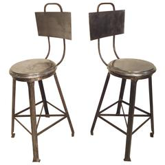 Heavy Industrial Style Bar Stools