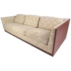 Impressive Modern Teak Frame Sofa in the style Milo Baughman