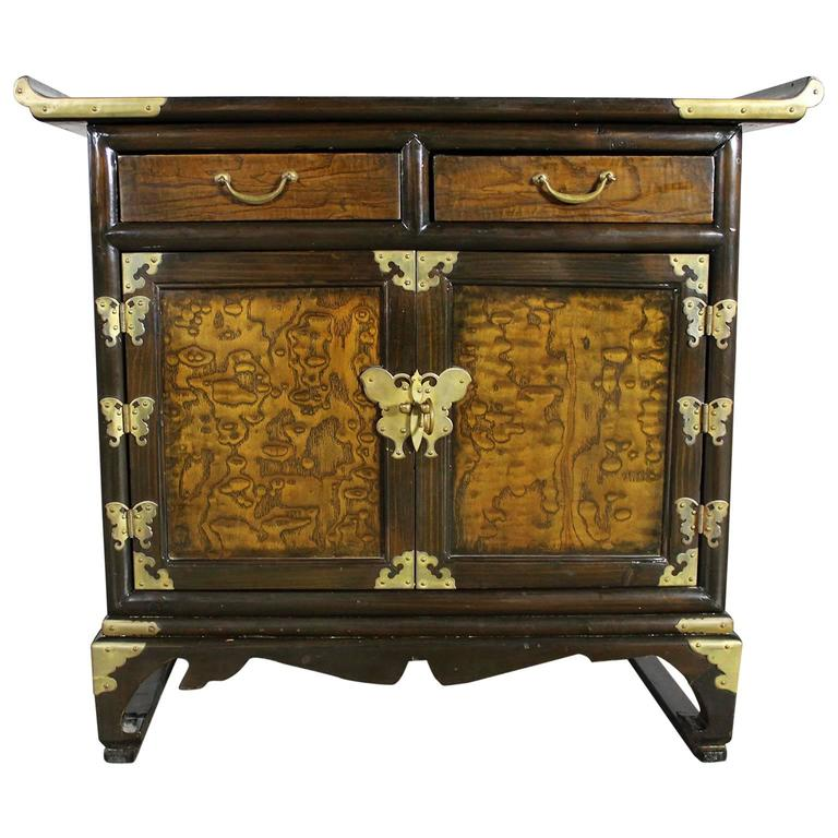 Small Korean Design Asian Accent Scholar S Cabinet Vintage For