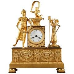 Early 19th Century Ormolu Figural Mantel Clock