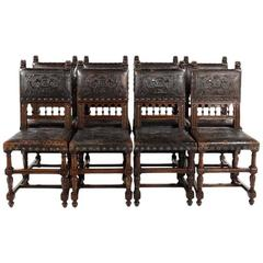 Antique Set of Eight French Renaissance Revival Dining Chairs, circa 1880