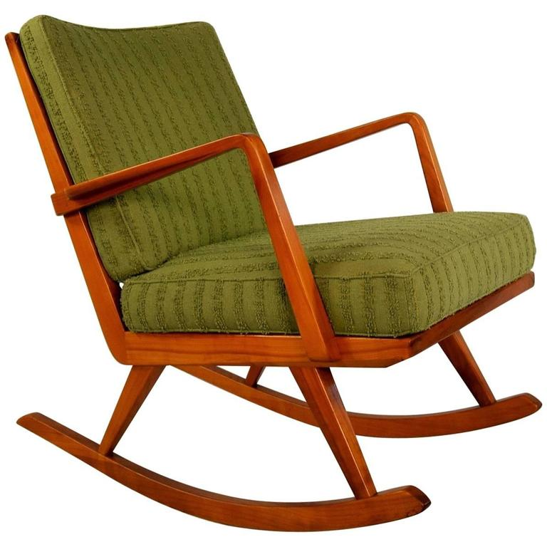 Easy rocking chair no pk 22 39 by walter knoll for antimott at 1stdibs - Knoll rocking chair ...