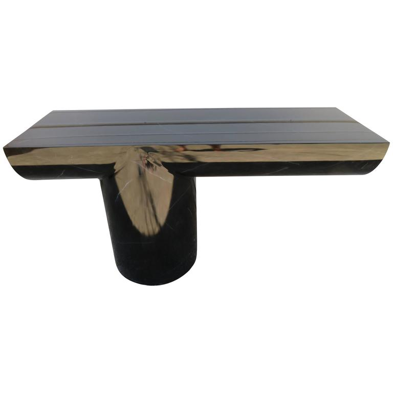 Brueton Mid-Century Modern Cantilevered Lacquer Console Sofa Table
