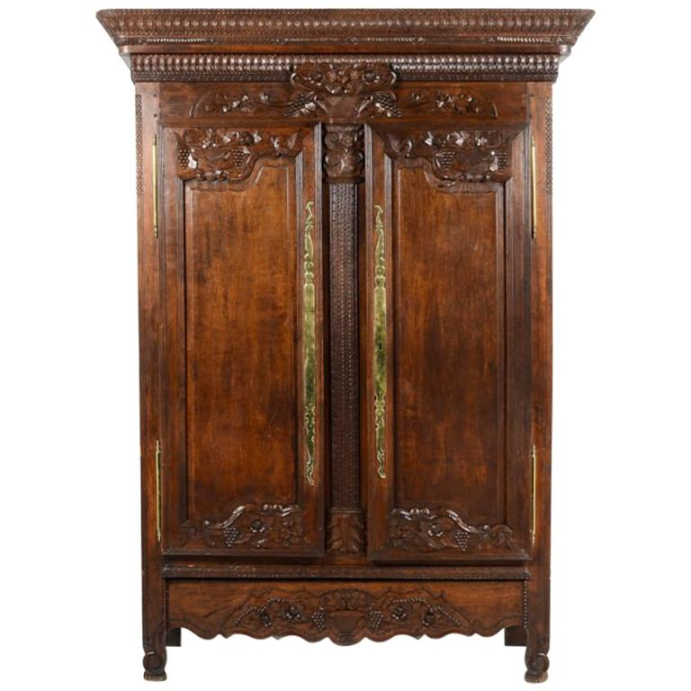 french antique hand carved armoire. Antique French Hand-Carved \ Hand Carved Armoire A