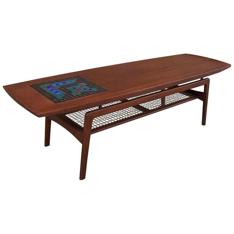 Danish Modern Teak And Mosaic Tile Coffee Table By Arne Hovmand Olsen 1