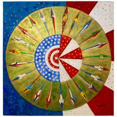 "Vibrant Abstract by George Obando, ""Unity and the Americas"", 1997"