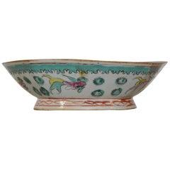 Asian Porcelain Octagonal Bowl, circa Early 19th Century