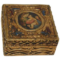 Florentine Box with Madonna and Child