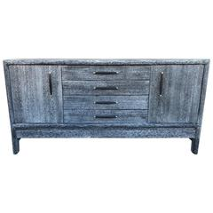 Grey Cerused Credenza with Secret Compartment by Brown Saltman