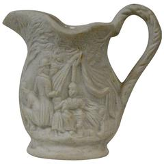 Miniature Parian Ware Earthenware Pitcher, circa 1850s