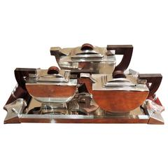 Demilune Modernist Deco Silver Tea Set