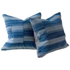 Hebei Indigo Stripe Cushion