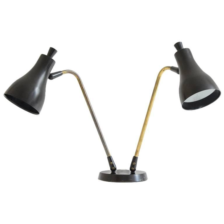 Gerald Thurston Black Double Cone Table Lamp