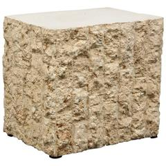 End or Side Table in Travertine