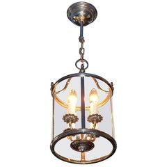 Floral Sciolari Silver Brass Candelabra Lantern Lamp 1960s italian chandelier