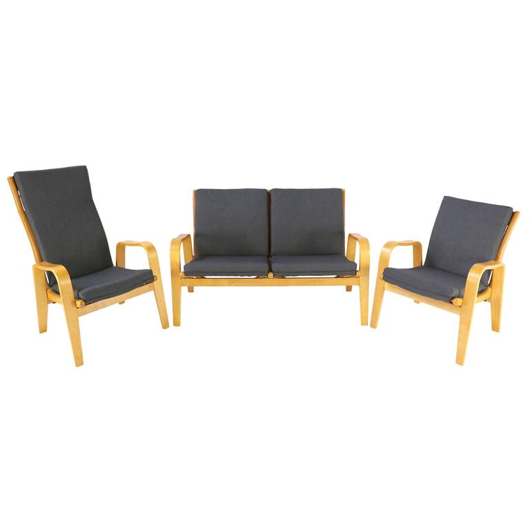 Pastoe FB06 Sofa and Two Easy Chairs Designed by Cees Braakman, 1950s