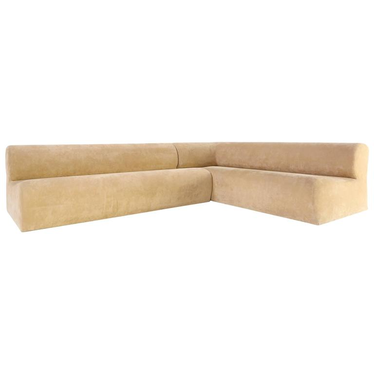 Italian Sectional Corner Sofa In Alcantara Ultrasuede