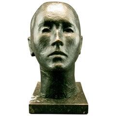 Mid-Century Brutalist Bronze Bust by Pedro Pruna O'Cerans, Spanish (1904-1977)